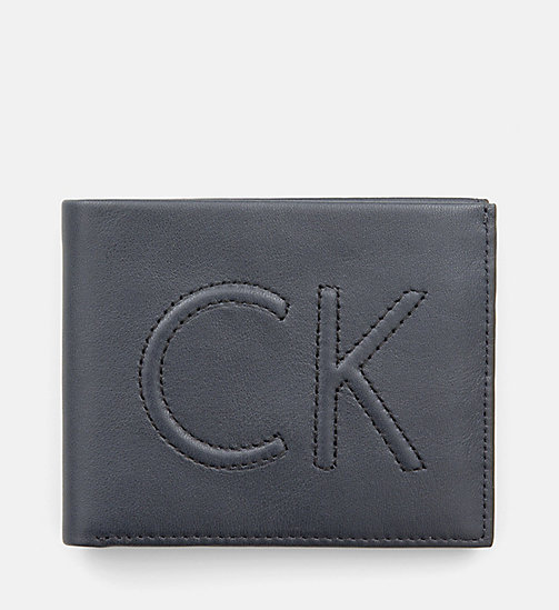 CALVINKLEIN Leather Slimfold Wallet - BLUE NIGHT - CALVIN KLEIN WALLETS - main image
