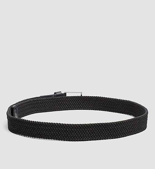 CALVINKLEIN Braided Belt - BLACK - CALVIN KLEIN BELTS - detail image 1