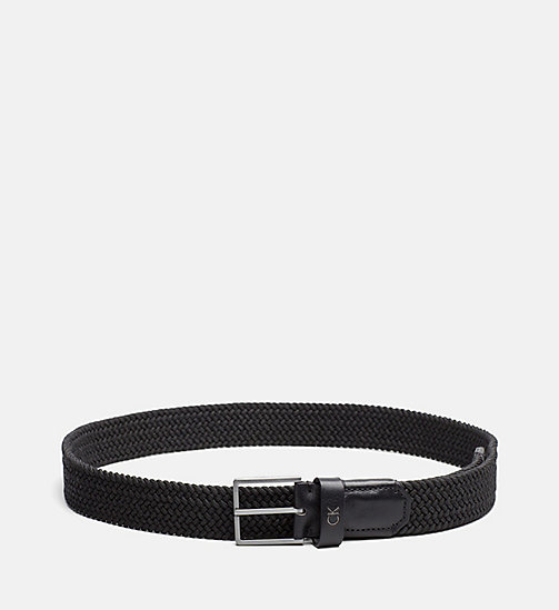 CALVINKLEIN Braided Belt - BLACK - CALVIN KLEIN BELTS - main image