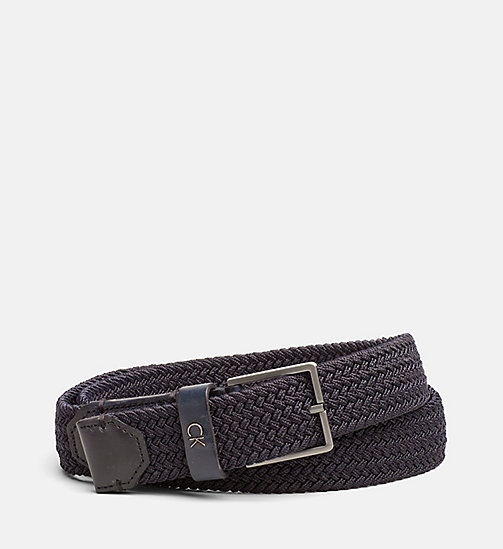 CALVINKLEIN Braided Belt - ECLIPSE - CALVIN KLEIN NEW NECESSITIES - main image