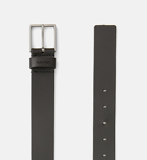 CALVINKLEIN Leather Belt - BLACK - CALVIN KLEIN BACK IN BUSINESS - detail image 1