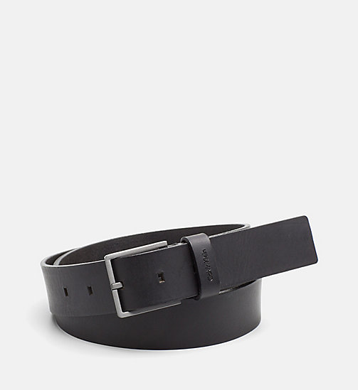 CALVINKLEIN Leather Belt - BLACK - CALVIN KLEIN BACK IN BUSINESS - main image