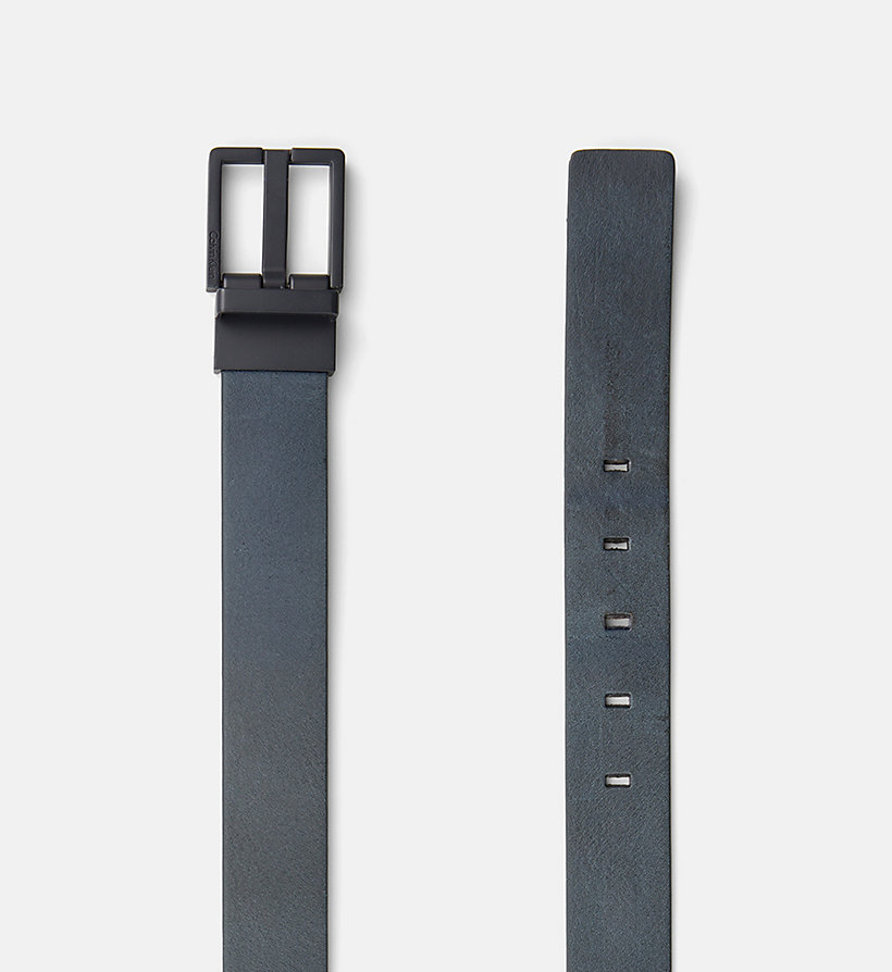 CALVINKLEIN Leather Belt - BLACK - CALVIN KLEIN MEN - detail image 1
