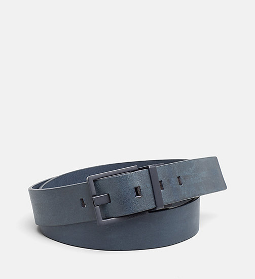 CALVINKLEIN Leather Belt - BLUE NIGHT - CALVIN KLEIN BELTS - main image