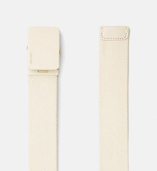 CALVINKLEIN Canvas Plaque Belt - CEMENT - CALVIN KLEIN BELTS - detail image 1