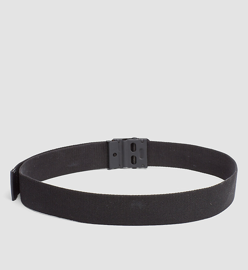 CALVINKLEIN Canvas Plaque Belt - CEMENT - CALVIN KLEIN MEN - detail image 1