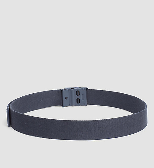 CALVINKLEIN Canvas Plaque Belt - BLUE NIGHT - CALVIN KLEIN NEW NECESSITIES - detail image 1