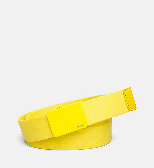 CALVINKLEIN Canvas Plaque Belt - SUNFLOWER - CALVIN KLEIN SHOES & ACCESSORIES - main image