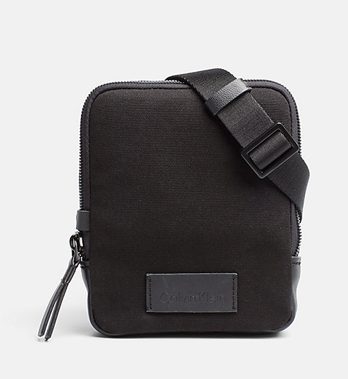CALVINKLEIN Canvas Mini Reporter Bag - BLACK - CALVIN KLEIN BAGS & ACCESSORIES - main image