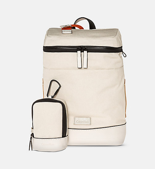 CALVINKLEIN Canvas Backpack - CEMENT - CALVIN KLEIN BAGS & ACCESSORIES - main image