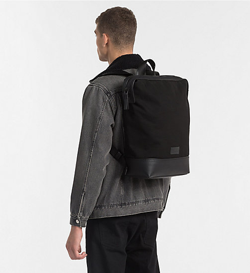 CALVINKLEIN Canvas Backpack - BLACK - CALVIN KLEIN BAGS & ACCESSORIES - detail image 1