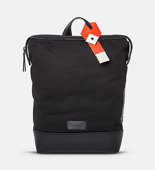 CALVINKLEIN Canvas Backpack - BLACK - CALVIN KLEIN BAGS & ACCESSORIES - main image