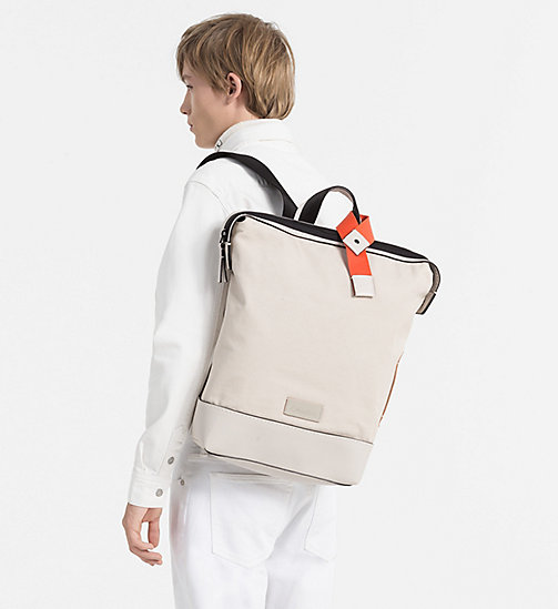 CALVINKLEIN Canvas Backpack - CEMENT - CALVIN KLEIN SHOES & ACCESSORIES - detail image 1