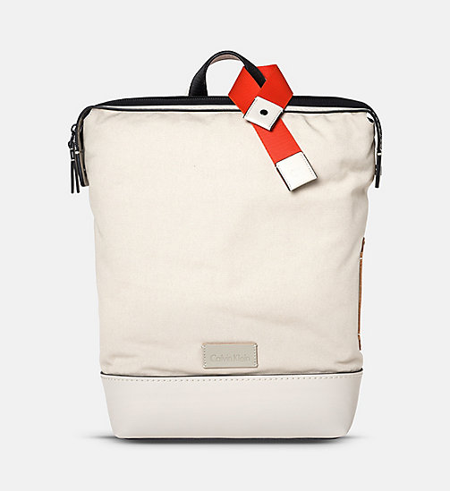 CALVINKLEIN Canvas Backpack - CEMENT - CALVIN KLEIN SHOES & ACCESSORIES - main image
