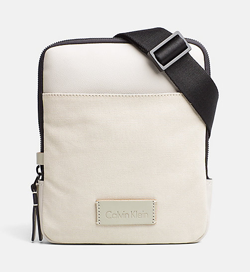 CALVINKLEIN Canvas Flat Crossover - CEMENT - CALVIN KLEIN CROSSOVER BAGS - main image