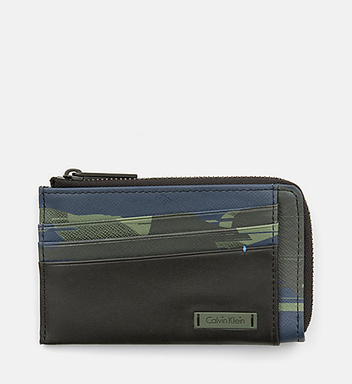 CALVINKLEIN Leather Camo Zip-Around Cardholder - SPEED CAMO - CALVIN KLEIN SHOES & ACCESSORIES - main image
