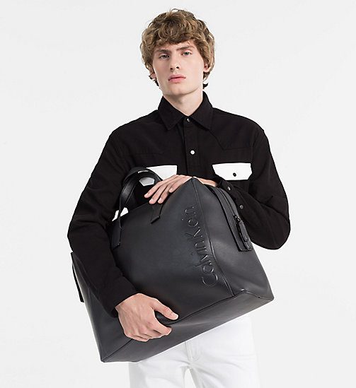 CALVINKLEIN Logo Weekender Bag - BLACK - CALVIN KLEIN NEW IN - detail image 1