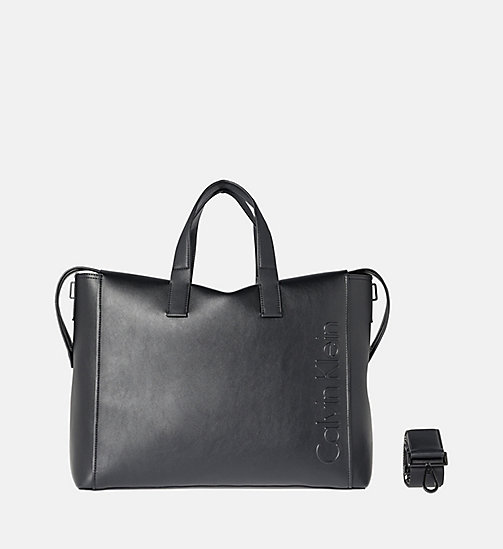 CALVINKLEIN Logo Weekender Bag - BLACK - CALVIN KLEIN WEEKEND BAGS - main image