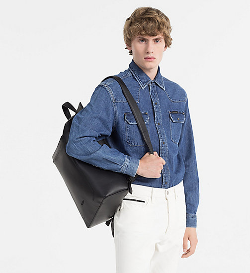 CALVINKLEIN Square Backpack - BLACK - CALVIN KLEIN BAGS & ACCESSORIES - detail image 1