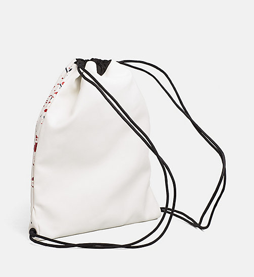 CALVINKLEIN Coated Canvas Splatter Flat Backpack - NAVY - CALVIN KLEIN BACKPACKS - detail image 1