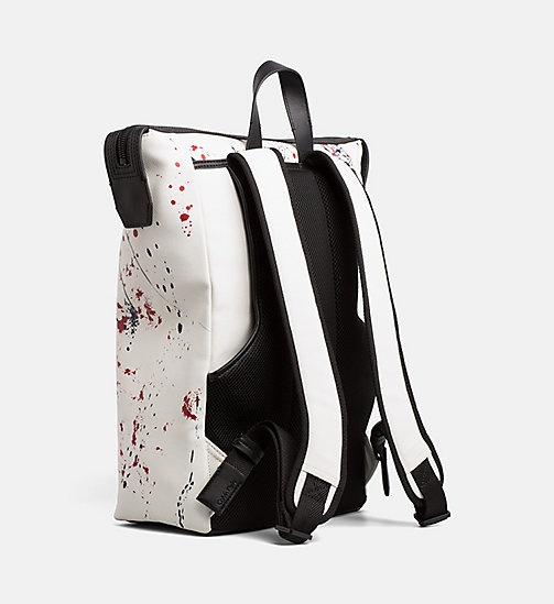 CALVINKLEIN Coated Canvas Splatter Backpack - NAVY - CALVIN KLEIN BACKPACKS - detail image 1