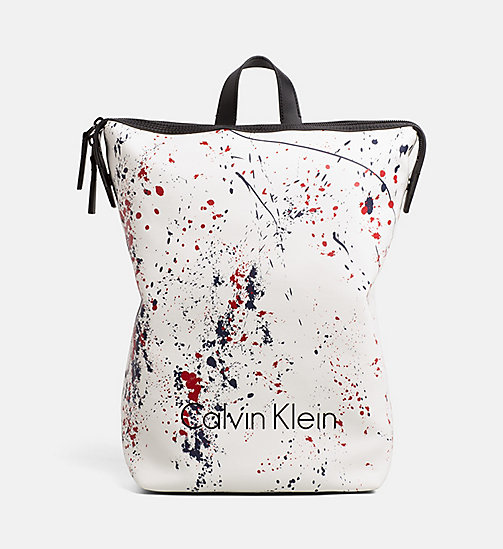 CALVINKLEIN Coated Canvas Splatter Backpack - NAVY - CALVIN KLEIN BACKPACKS - main image