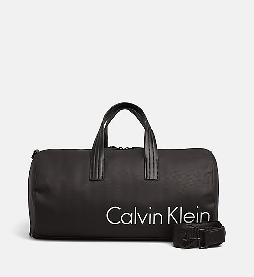 CALVINKLEIN Coated Canvas Cylinder Duffle Bag - BLACK - CALVIN KLEIN SHOES & ACCESSORIES - main image