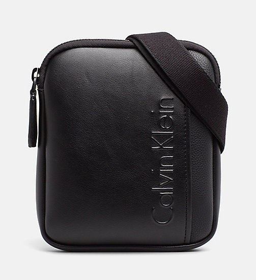 CALVINKLEIN Flache Mini Crossover-Bag mit Logo - BLACK - CALVIN KLEIN NEW IN - main image