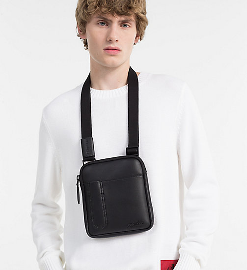 CALVINKLEIN Mini Flat Crossover - BLACK - CALVIN KLEIN BAGS & ACCESSORIES - detail image 1