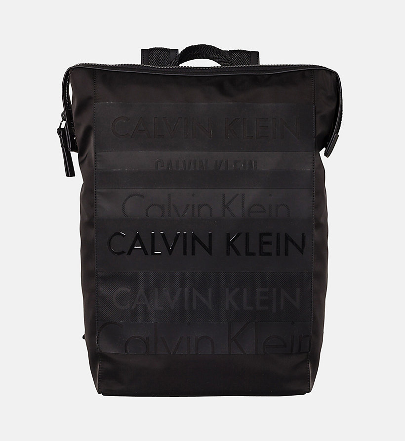 CALVINKLEIN Logo Square Backpack - CEMENT - CALVIN KLEIN MEN - main image