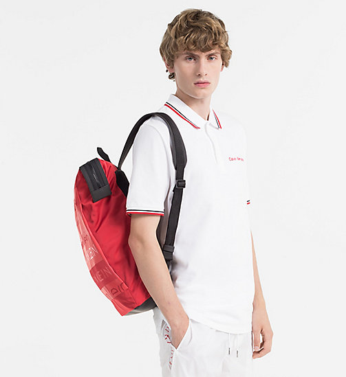 CALVINKLEIN Logo Square Backpack - RED - CALVIN KLEIN NEW IN - detail image 1