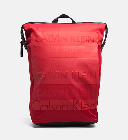 CALVINKLEIN Logo Square Backpack - RED - CALVIN KLEIN ACCESSORIES - main image