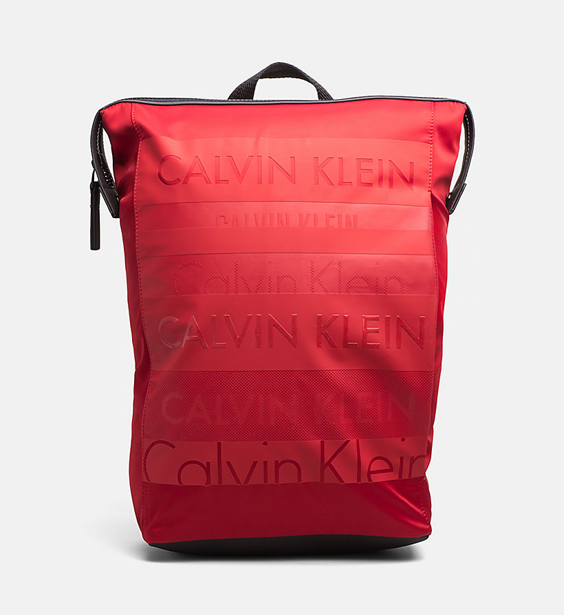 CALVINKLEIN Logo Square Backpack - SUNFLOWER - CALVIN KLEIN MEN - main image