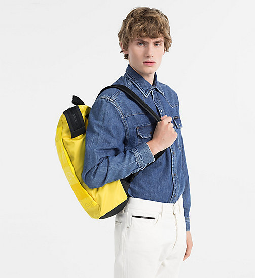 CALVINKLEIN Logo Square Backpack - SUNFLOWER - CALVIN KLEIN BAGS & ACCESSORIES - detail image 1