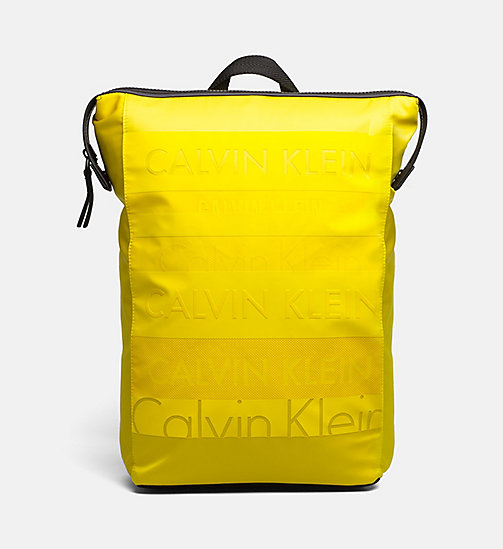 CALVINKLEIN Logo Square Backpack - SUNFLOWER - CALVIN KLEIN BAGS & ACCESSORIES - main image
