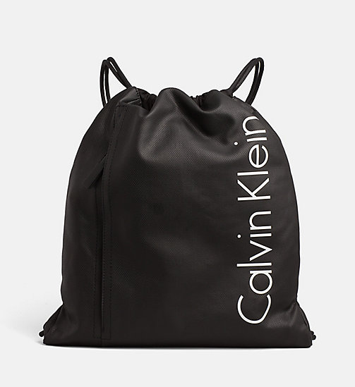 CALVINKLEIN Coated Canvas Flat Backpack - BLACK - CALVIN KLEIN ACCESSORIES - main image