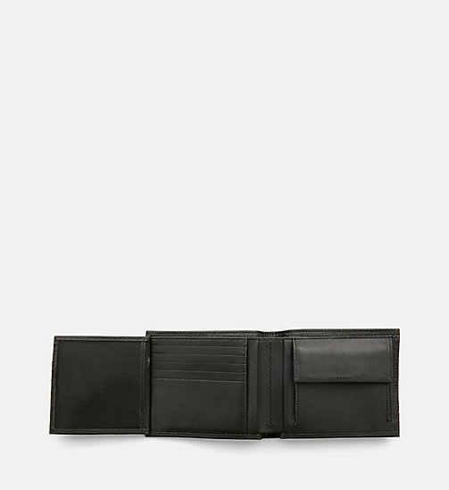 CALVINKLEIN Saffiano Leather Bifold Wallet - BLACK - CALVIN KLEIN WALLETS & SMALL ACCESSORIES - detail image 1