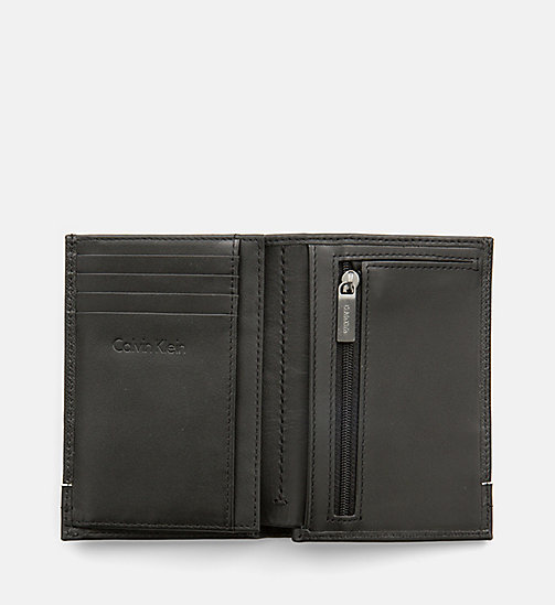 CALVINKLEIN Saffiano Leather Flap Wallet - BLACK - CALVIN KLEIN NEW IN - detail image 1