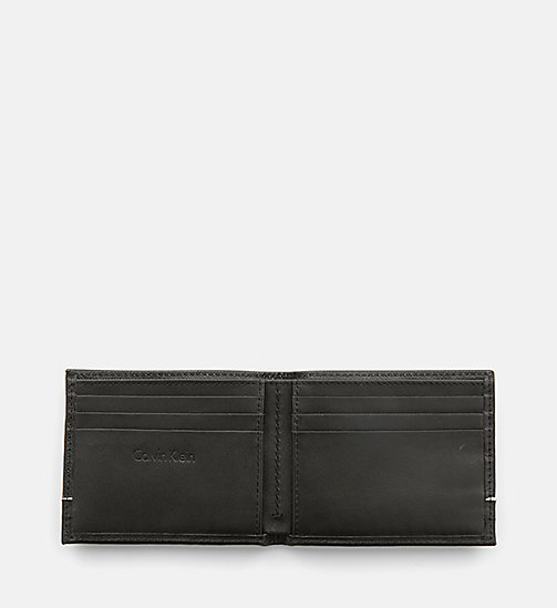 CALVINKLEIN Saffiano Leather Slimfold Wallet - BLACK - CALVIN KLEIN WALLETS & SMALL ACCESSORIES - detail image 1