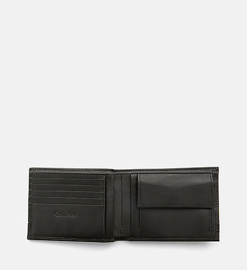 CALVINKLEIN Saffiano Leather Bifold Wallet - BLACK -  NEW IN - detail image 1