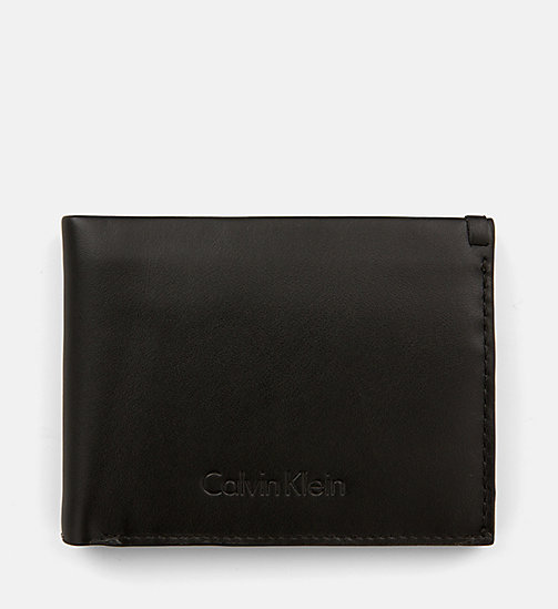 CALVINKLEIN Leather Wallet - BLACK - CALVIN KLEIN NEW IN - main image