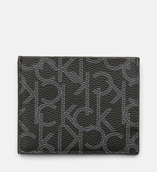 CALVINKLEIN Logo Cardholder - BLACK MONOGRAM - CALVIN KLEIN SHOES & ACCESSORIES - detail image 1
