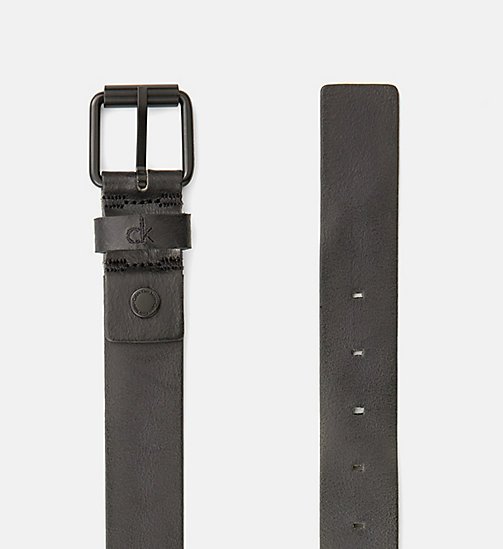 CALVIN KLEIN JEANS Leather Belt - BLACK - CALVIN KLEIN JEANS NEW IN - detail image 1