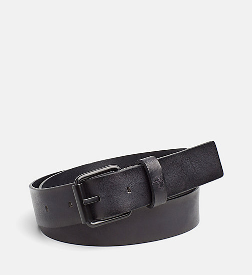 CALVIN KLEIN JEANS Leather Belt - BLACK - CALVIN KLEIN JEANS SHOES & ACCESSORIES - main image