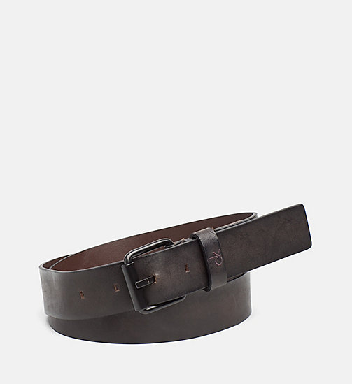 CALVIN KLEIN JEANS Leather Belt - UNIHIBITED - CALVIN KLEIN JEANS SHOES & ACCESSORIES - main image