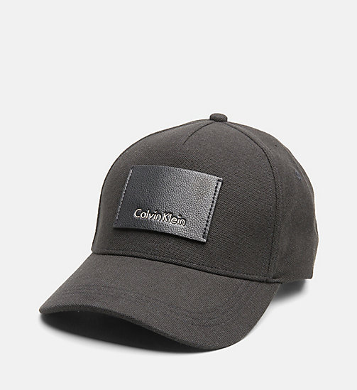 CALVINKLEIN Pique Baseball Cap - BLACK - CALVIN KLEIN NEW IN - main image
