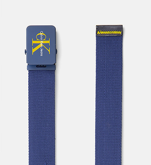CALVIN KLEIN JEANS Canvas Plaque Belt - BLUE DEPTHS - CALVIN KLEIN JEANS HEAT WAVE - detail image 1