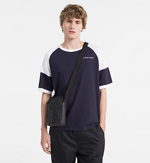 CALVINKLEIN Coated Canvas Mini Reporter Bag - BLACK - CALVIN KLEIN REPORTER BAGS - detail image 1