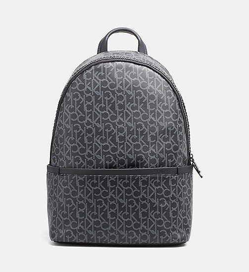 CALVINKLEIN Logo Round Backpack - BLACK MONOGRAM - CALVIN KLEIN LOGO SHOP - main image