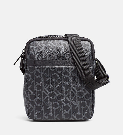 CALVINKLEIN Logo Mini Reporter Bag - BLACK MONOGRAM - CALVIN KLEIN NEW IN - main image